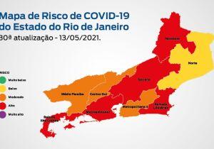 Baixada Litorânea volta a ficar com 'risco alto' de Covid-19, aponta o Governo do Estado