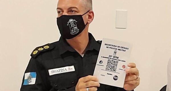 Batalhão da PM lança plataforma de segurança em QR code