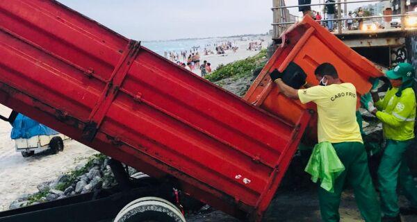 Prefeitura de Cabo Frio recolhe mais de mil toneladas de lixo durante o feriadão
