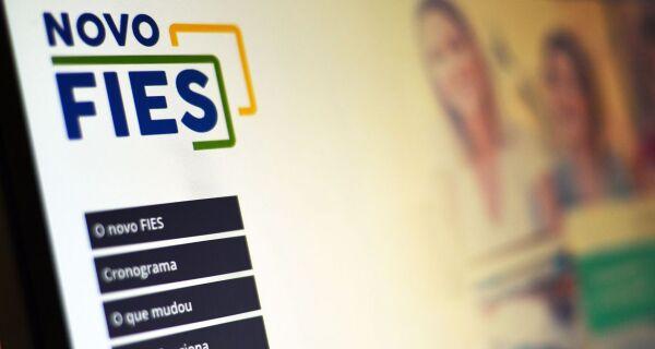 Inscrições para vagas remanescentes do Fies estão suspensas