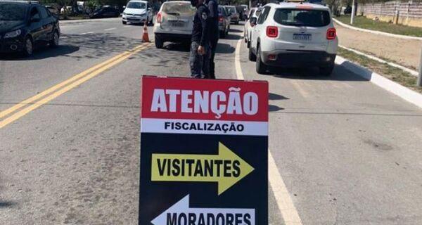 Arraial decide suspender as barreiras sanitárias nos acessos à cidade