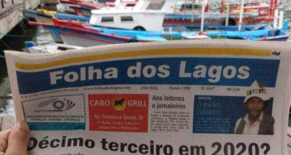 Primeira edição semanal da Folha dos Lagos chega às bancas