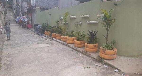Áreas de descarte irregular de lixo são transformadas em jardins comunitários no Jacaré