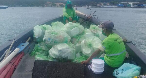 Comsercaf recolhe 690 toneladas de lixo durante fim de semana prolongado