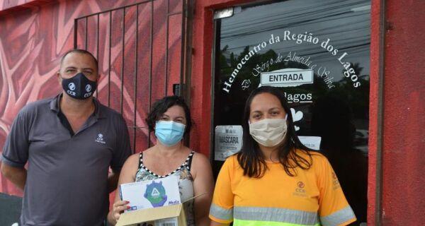 ViaLagos realiza doação de luvas descartáveis para o Hemocentro da Região dos Lagos