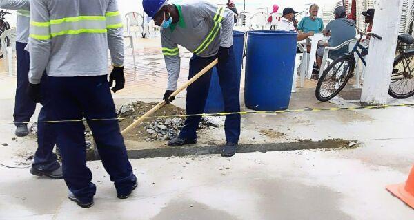 Orla do Peró começa a receber rede de água potável