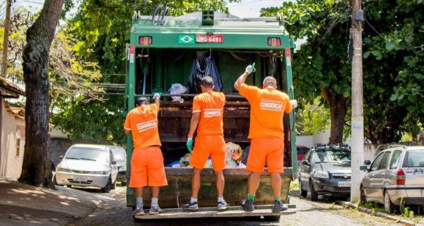 Comsercaf divulga alteração no horário da coleta de lixo domiciliar para os dias 24 e 31