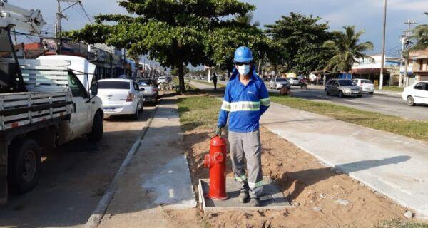 Segundo distrito de Cabo Frio ganha mais um hidrante para auxiliar no socorro do Corpo de Bombeiros