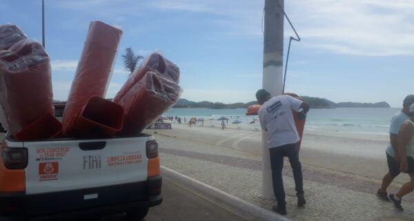 Prefeitura inicia instalação de novas lixeiras em Cabo Frio