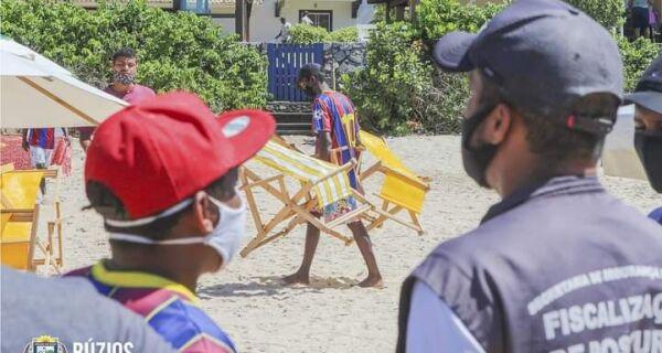 Praia de Geribá recebe ação de ordenamento