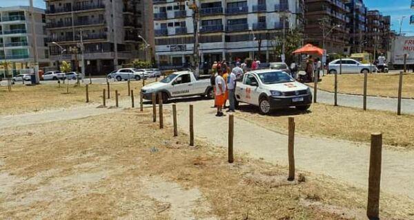Prefeitura de Cabo Frio cerca ''Bolsão da Juju', na Praia do Forte