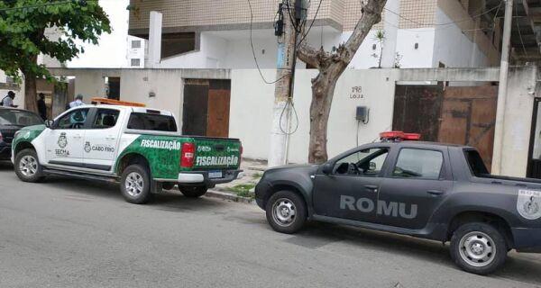 Prefeitura de Cabo Frio embarga obra ilegal na Avenida do Contorno