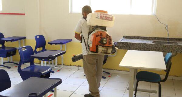 Araruama prepara escolas municipais com protocolo de higienização para retorno das aulas