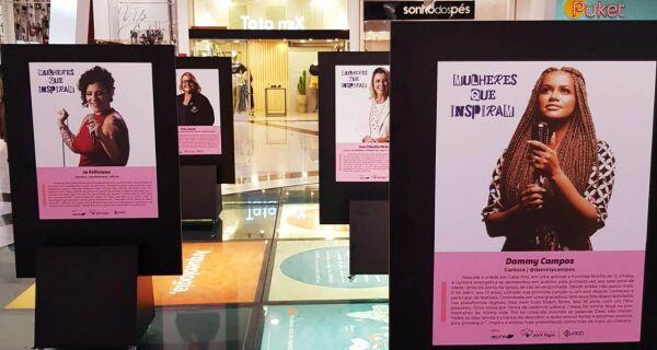 Exposição 'Mulheres que Inspiram' pode ser conferida até domingo (14) no Shopping Park Lagos