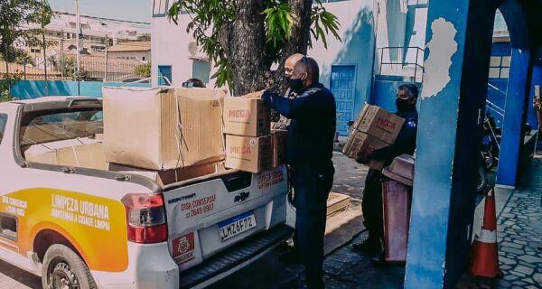 Guarda Municipal de Cabo Frio recebe doação de máscaras e álcool gel