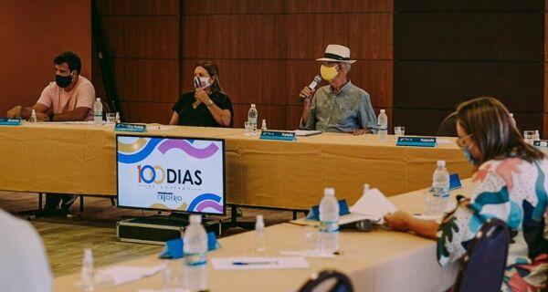 Bonifácio reúne secretários para balanço dos 100 dias de governo