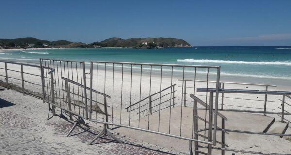 Mais uma semana: Cabo Frio manterá praias fechadas até o próximo domingo (11)
