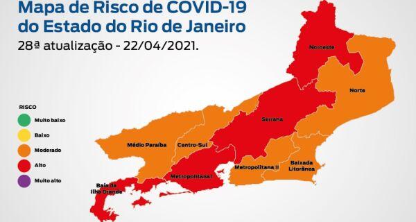 Estado do Rio passa de risco 'alto' para 'moderado' de disseminação da Covid-19