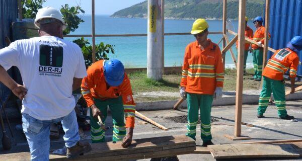 Obra de contenção de encosta da Prainha terá 240 metros de extensão