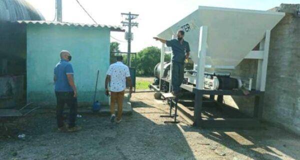 Prefeitura de São Pedro da Aldeia realiza testagem de equipamentos da Usina Municipal de Asfalto