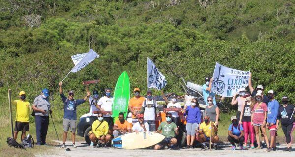 Praia Brava, em Cabo Frio, recebe ação de limpeza no fim de semana