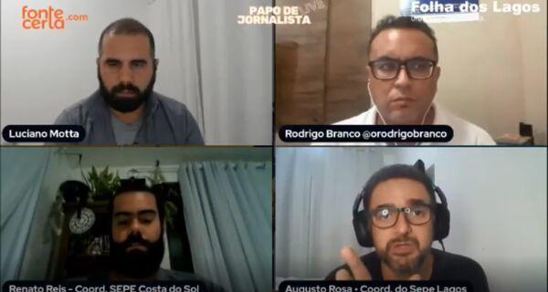 """Augusto Rosa, do Sepe Lagos: 'Voltar às aulas presenciais é botar seu filho em risco"""""""