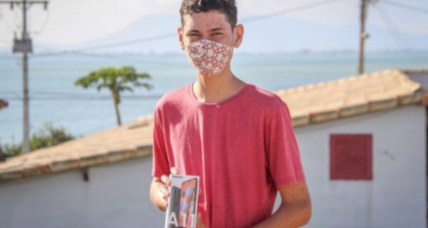 Filho de educadora ambiental ganha concurso regional sobre saneamento