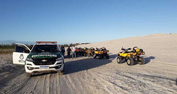 Veículos flagrados circulando na Duna Mãe são notificados pela Prefeitura de Cabo Frio