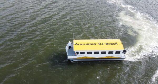 Sistema de travessia aquaviária de Araruama ganha nova embarcação