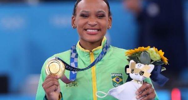 Rebeca Andrade será porta-bandeira do Brasil no encerramento das Olimpíadas de Tóquio
