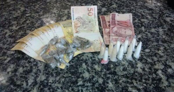 Adolescentes são detidos com drogas e dinheiro no Jardim Esperança, em Cabo Frio