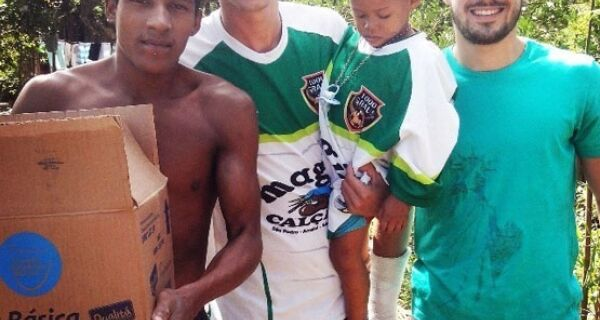 Futebol com solidariedade em São Pedro