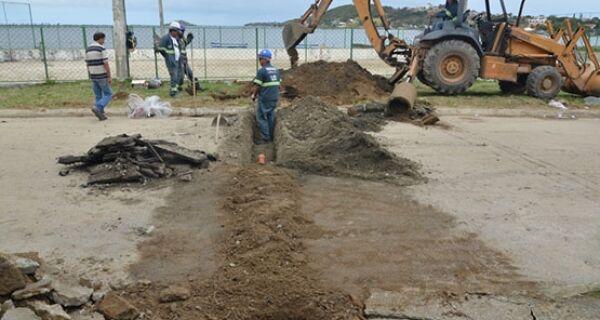 São Pedro inicia obra na Lagoa de Araruama
