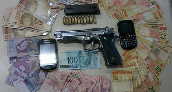 Policiais do GAT prendem homem com R$ 3 mil e pistola nove milímetros