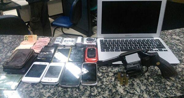 Sete pessoas foram detidas no centro de Cabo Frio após praticarem assaltos