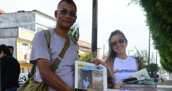 Distribuição do Caderno Cidades ganha as ruasem São Pedro