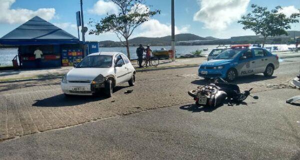 Acidente nas Palmeiras deixa uma pessoa ferida