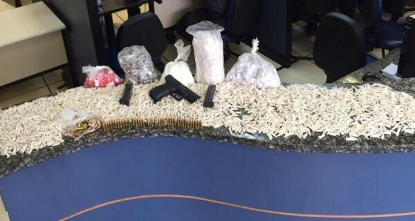 Homem é preso na Rainha da Sucata suspeito de tráfico de drogas