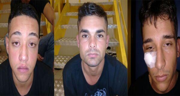 Homens são presos após roubo de carro