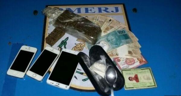 PM prende traficantes além de  apreender drogas e armas em Cabo Frio e Tamoios