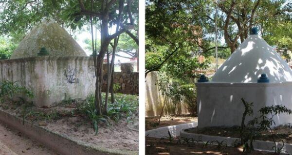 Moradores de Arraial fazem mutirão para limpar Marco Histórico