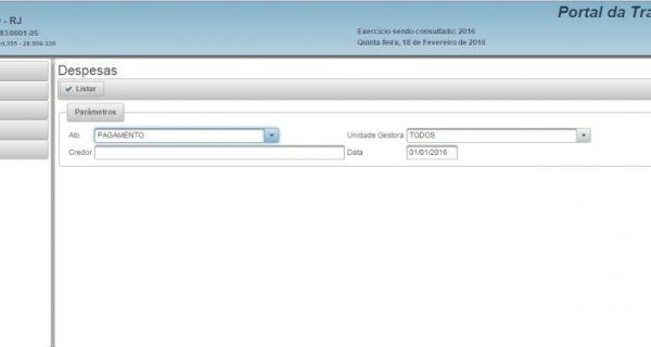 Após mais de dois meses, Portal da Transparência da Prefeitura de Cabo Frio volta ao ar