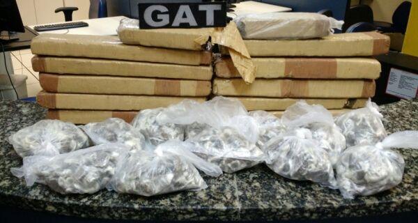 PM apreende 15 quilos de maconha em Cabo Frio