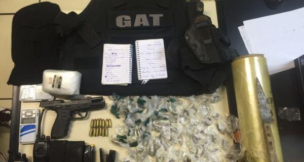 Ação da PM prende dois e apreende armas e materiais no Monte Alegre