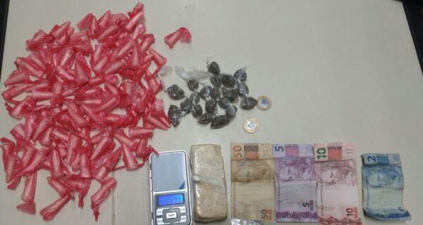 Polícia apreende drogas e prende um em Arraial do Cabo
