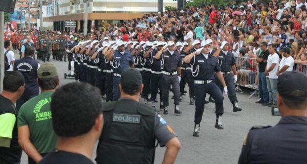 Desfile Cívico de Arraial é cancelado por causa da chuva