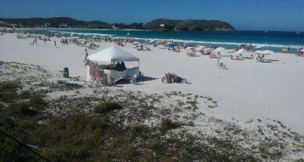 Domingo é de praia em Cabo Frio