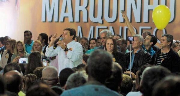 Marquinho lança candidatura em convenção do PMDB, mas mistério sobre vice permanece