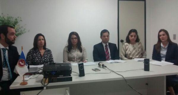 Promotores do Ministério Público concedem entrevista para falar de situação de Alair Corrêa