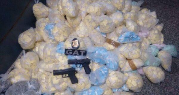 Polícia Militar faz grande apreensão de drogas no Alecrim, em São Pedro
